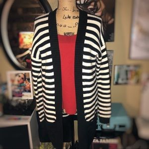Like new! Express Knit Striped Sweater/Cardigan